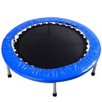 Gymax 38''Mini Band Trampoline Safe Elastic Exercise Workout