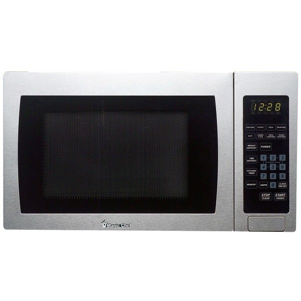 Magic Chef Mcm990St .9 Cubic-Ft, 900-Watt Microwave With Digital Touch (Stainless Steel)