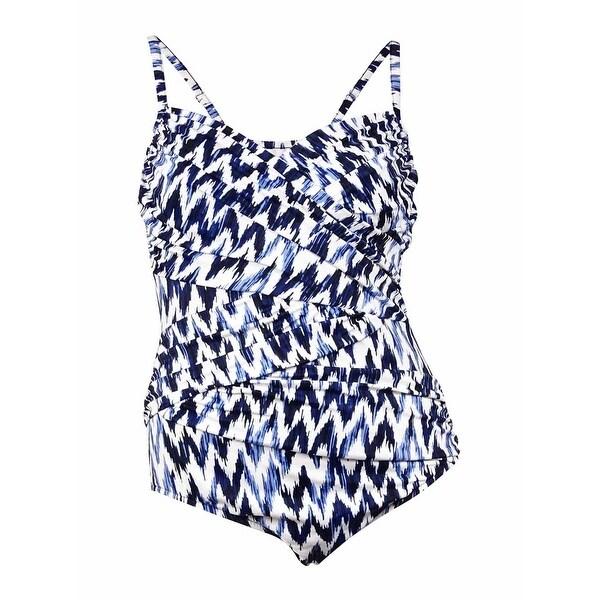 d15878a2e Shop Swim Solutions Women s Coastal Ikat Ruched Swimsuit (20