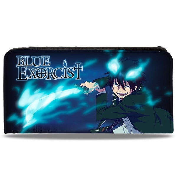 Blue Exorcist Rin Pose Blues + 7 Character Group Pose Canvas Snap Wallet - One Size Fits most