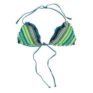 Rip Curl Womens Striped HALTER Swim Top Separates - L