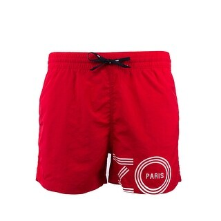 Kenzo Mens Red Bathing Suit Swim Shorts Trunks - M