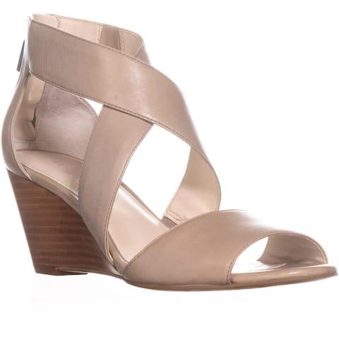 Kenneth Cole New York Drina Wedge Sandals, Light Grey - 6.5 US / 37 EU