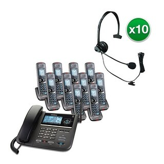 Uniden DECT4096-10 with Headset 2-Line DECT 6 Corded/Cordless Phone