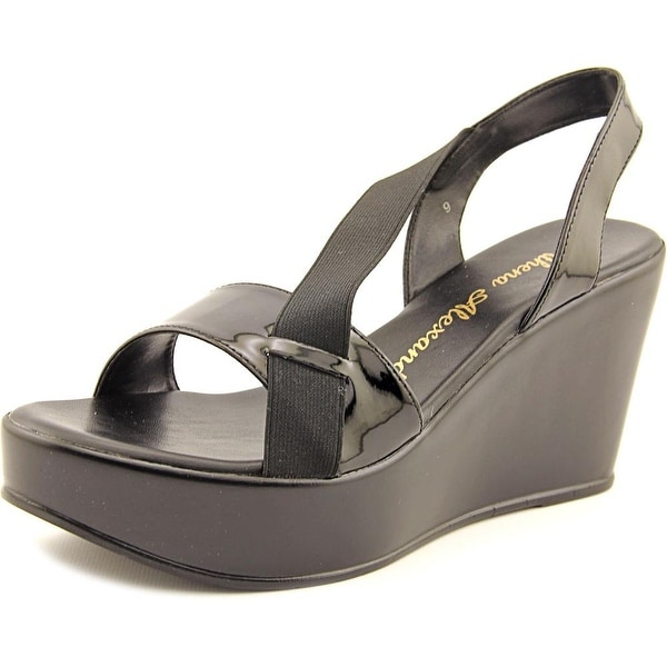 Athena Alexander Koko Open Toe Synthetic Wedge Sandal