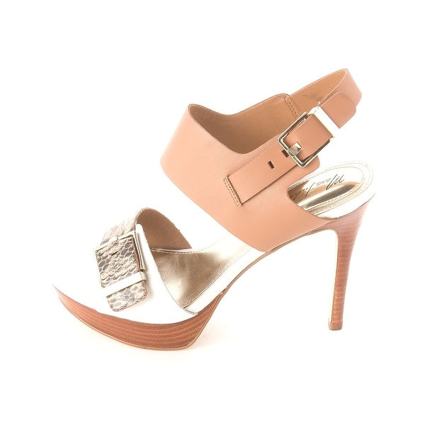 Marc Fisher Womens STACIE Leather Special Occasion Ankle Strap Sandals