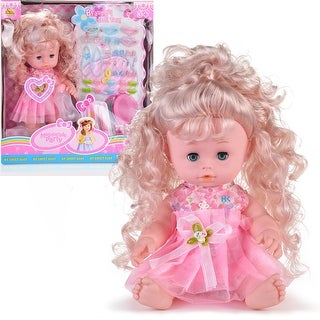 HK Alive Realistic Baby Doll w/ Hairs Outfits Sound Great Dreams Gift Set Soft Washable Pink