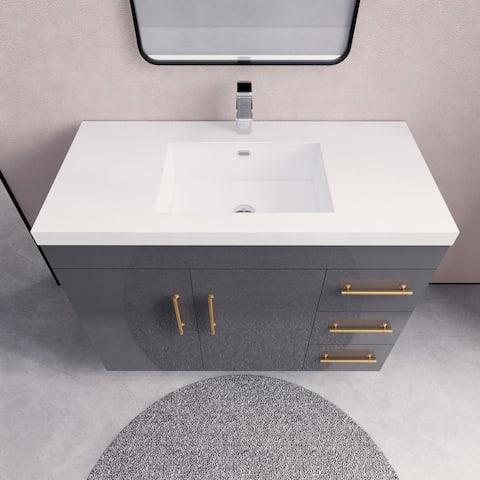 Eliza Freestanding Vanity with Reinforced Acrylic Sink