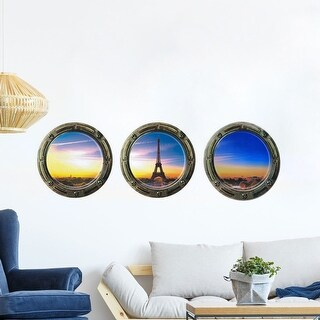 "PVC Home Room Removable 3D Magic DIY Wall Decoration Art Sticker Decal Set of 3 11.8""x15.7"""