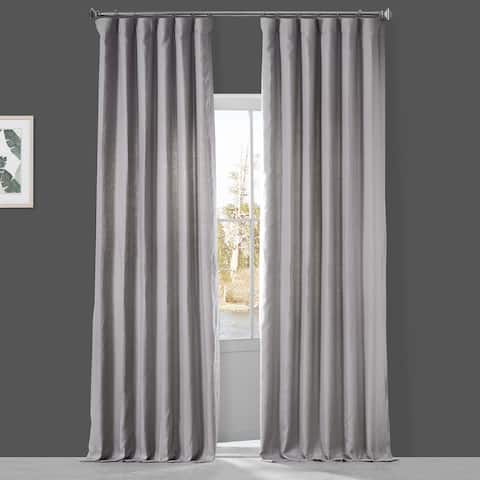 Exclusive Fabrics French Linen Lined Curtain Panel