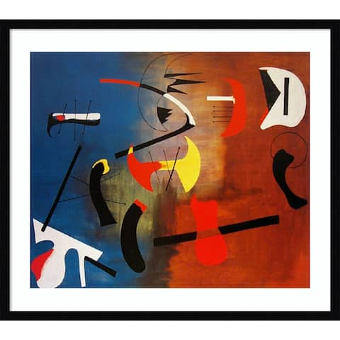 Peintre Composition (Painter Composition) by Joan Miro 29-inch x 25-inch Framed Wall Art Print