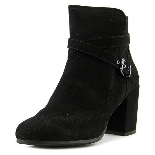 Madden Girl Right Onn Women Round Toe Canvas Black Ankle Boot