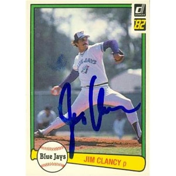 Shop Jim Clancy Autographed Baseball Card Toronto Blue Jays 1982