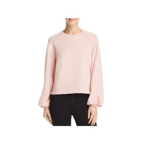 Project Social T Womens Wilson Sweatshirt Cut-Out Raglan Sleeves