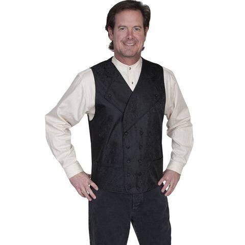 Scully Western Vest Men Wide Notch Lapel Double Breast
