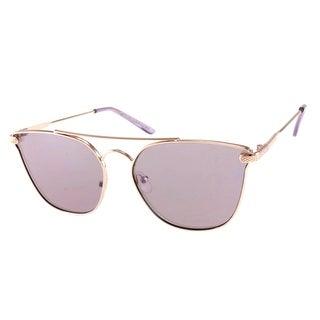 Womens Metal Cat Eye Mirror Sunglasses