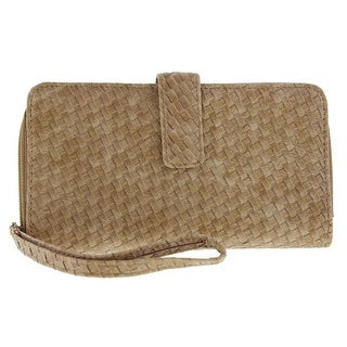 Kenneth Cole Reaction Womens Wristlet Wallet Faux Leather Woven