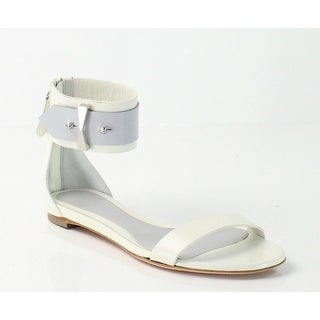 Alexander McQueen NEW White 9.5M Ankle Strap Leather Sandals