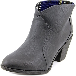 Blowfish Schloss Women Round Toe Synthetic Black Ankle Boot