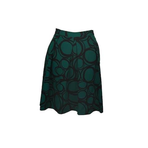 Anne Klein Green Printed Pleated Skirt 4