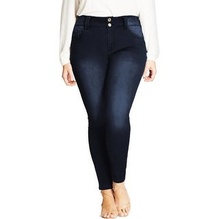 City Chic Womens Asha Skinny Jeans Skinny Fit High Rise