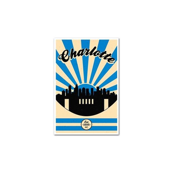 carolina panthers vintage football matte poster 16x24 free