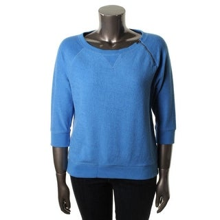 LRL Lauren Jeans Co. Womens Sweatshirt French Terry Zipper Trim - s