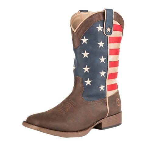 Roper Western Boot Boys American Patriot