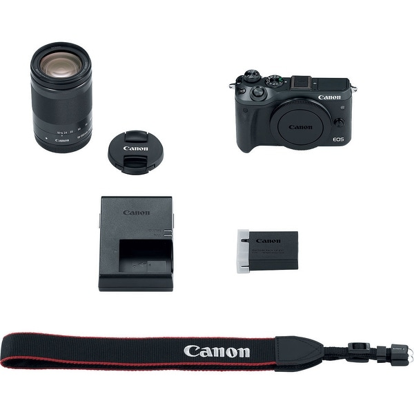 Canon EOS M6 Mirrorless Digital Camera with 18-150mm Lens (Black) (International Model)