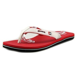 Quiksilver Anaheim Angels Men Open Toe Synthetic Red Flip Flop Sandal