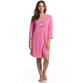 Rene Rofe Women's Pillow Talk Coffee Time 3/4 Sleeve V-Neck Sleepshirt