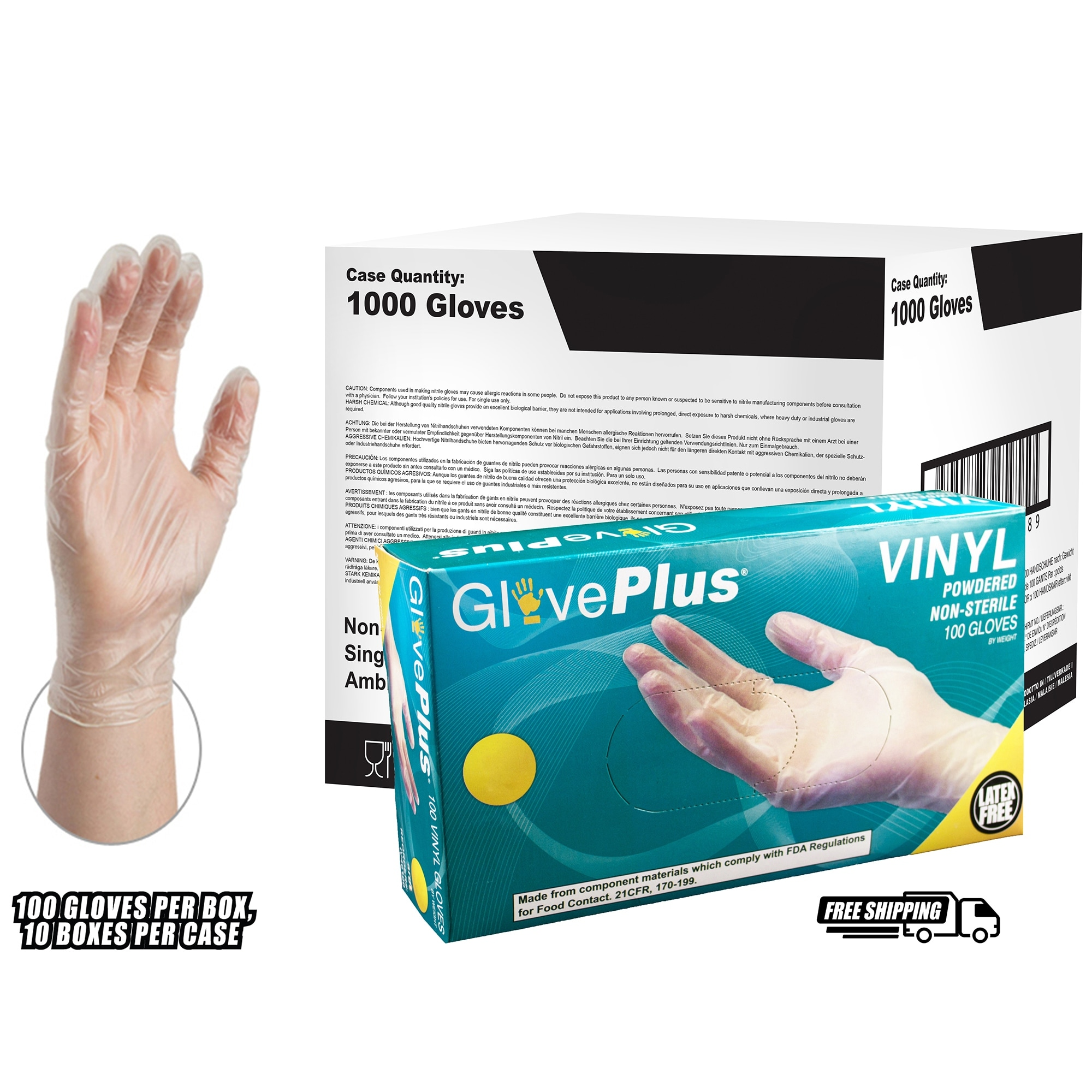 Shop Gloveplus Iv Clear Vinyl Industrial Powdered Disposable Gloves Case Of 1000 By Ammex Overstock 15434237