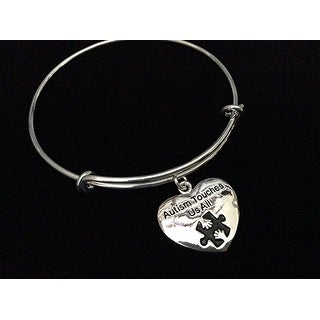 Autism Touches Us All Silver Expandable Charm