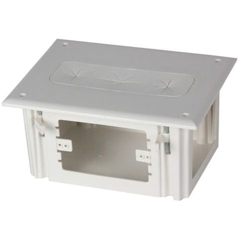 DATACOMM ELECTRONICS 45-0010-WH Recessed Media Box - Pictured