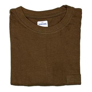 Spalding Short Sleeve Crew Neck Pocket Tee Men Regular Basic T-Shirt