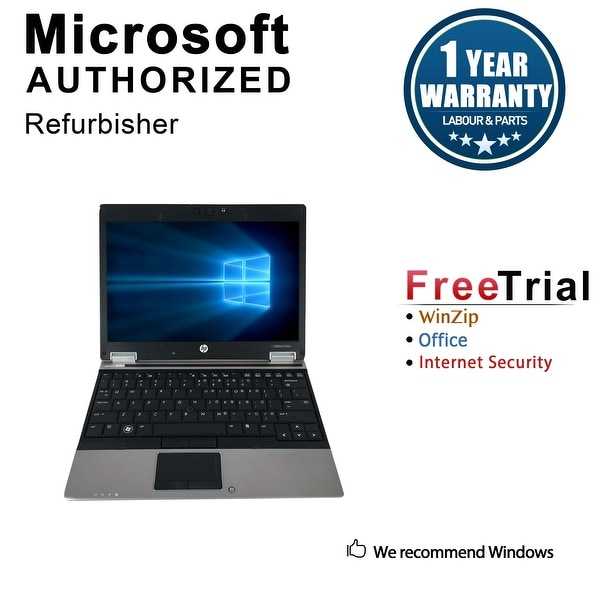 "Refurbished HP EliteBook 2540P 12.1"" Intel Core i5-520M 2.40GHz 4GB DDR3 120GB SSD Windows 10 Pro 64 Bits 1 Year Warranty"