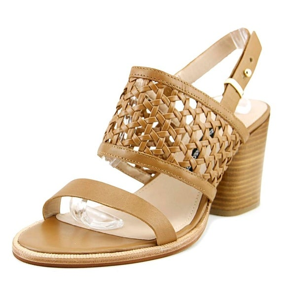 French Connection CIELO Women Open Toe Leather Tan Sandals