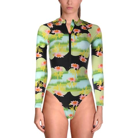 Cynthia Rowley Womens Hepburn Floral Print One-Piece Surf Suit