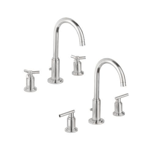 Grohe 20 069 Atrio Widespread Bathroom Faucet With Silkmove And Watercare Technologies Free Metal Pop
