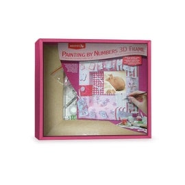 DIY Baby Girl Painting By Numbers 3D Pink Picture Frame
