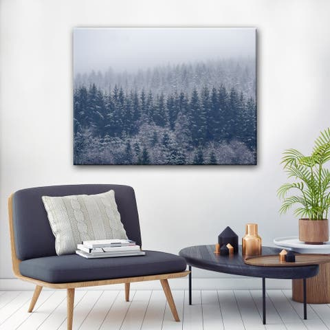 Frozen Trees' Winter Wrapped Canvas Wall Art