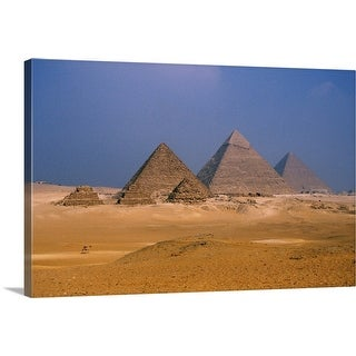 """Pyramids, Giza, Egypt"" Canvas Wall Art"