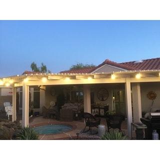 LEDPAX 48-foot LED Outdoor Waterproof String Lights - Black - 48 Foot