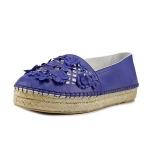 Dior Flore Women Round Toe Leather White Heels