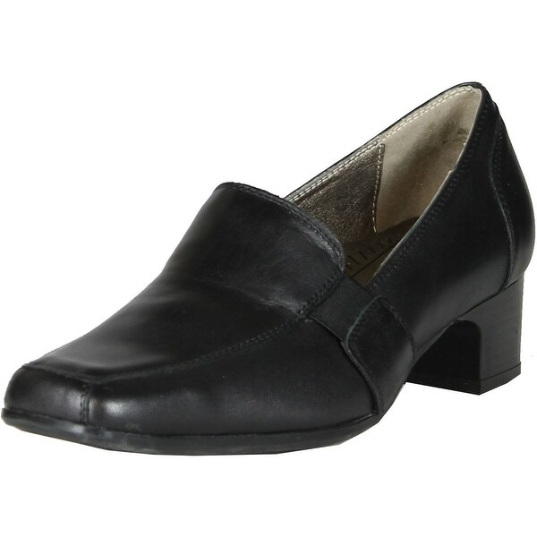 Spring Step Womens Classy Leather Work Casual Pumps Shoes - black. - 36 m eu / 5.5-6 b(m) us
