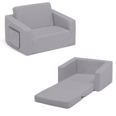Serta iComfort Memory Foam Flip-Out 2-in-1 Convertible Chair to Lounger for Kids
