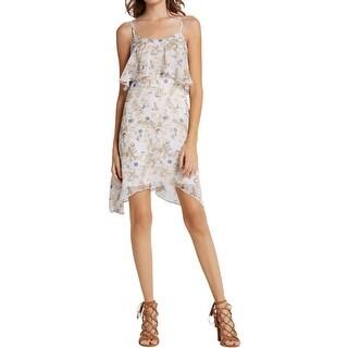 BCBGeneration Womens Juniors Casual Dress Popover Asymmetric