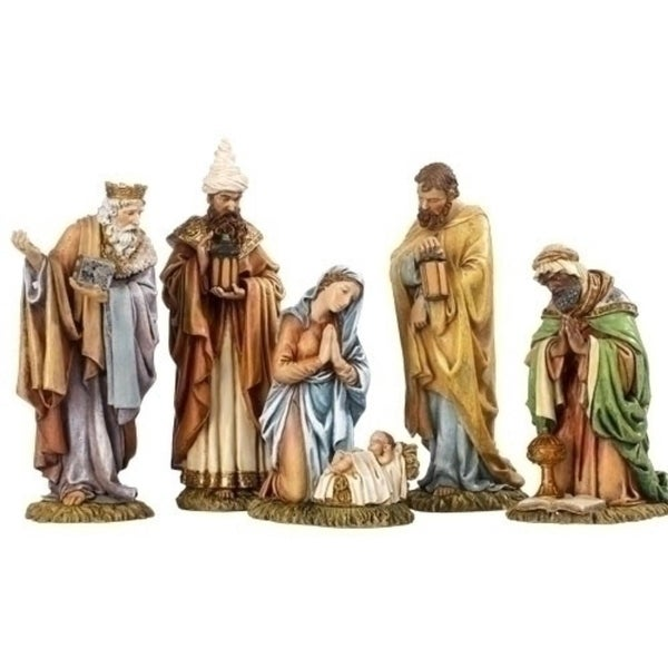 "8"" Joseph's Studio Holy Family and Three Kings 5-Piece Christmas Nativity Set"