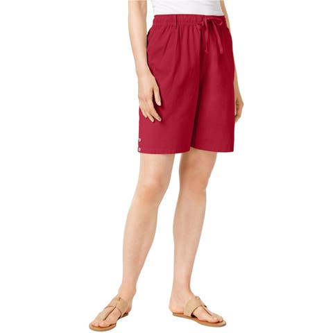 Karen Scott Womens Lisa Casual Walking Shorts
