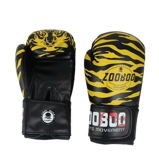 Zooboo Authorized Adult Faux Leather Mitts Fighting Boxing Gloves Yellow 10oz